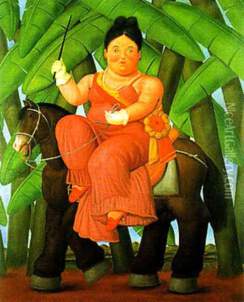 The First Lady Oil Painting - Fernando Botero