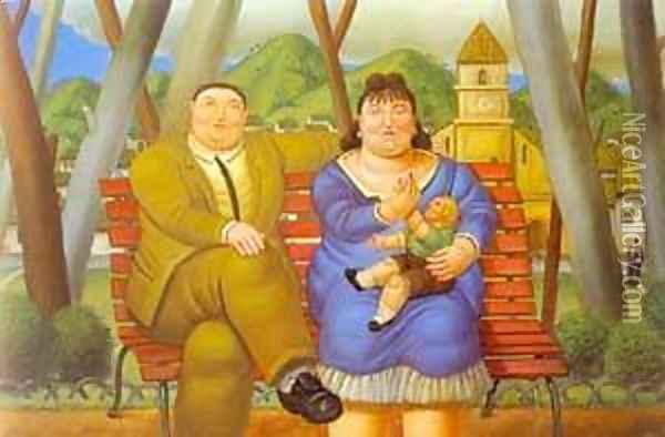 In the Park 1996 Oil Painting - Fernando Botero