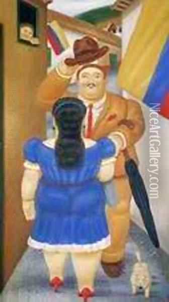 National Holiday Oil Painting - Fernando Botero