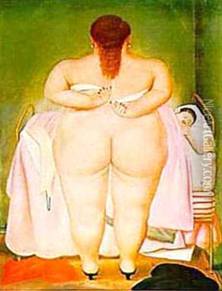 The Morning After Oil Painting - Fernando Botero