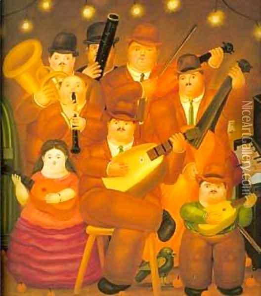 The Musicians 1979 Oil Painting - Fernando Botero