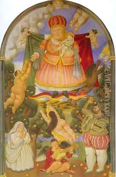 Gate of Heaven 1993 Oil Painting - Fernando Botero