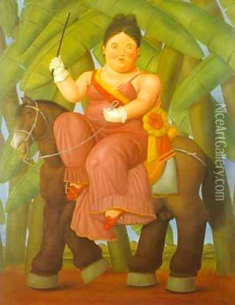 The President and First Lady 1989 Oil Painting - Fernando Botero