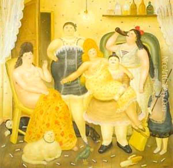 The House of Maria Duque 1970 Oil Painting - Fernando Botero