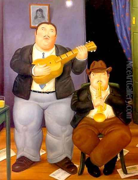 Musicians II Oil Painting - Fernando Botero