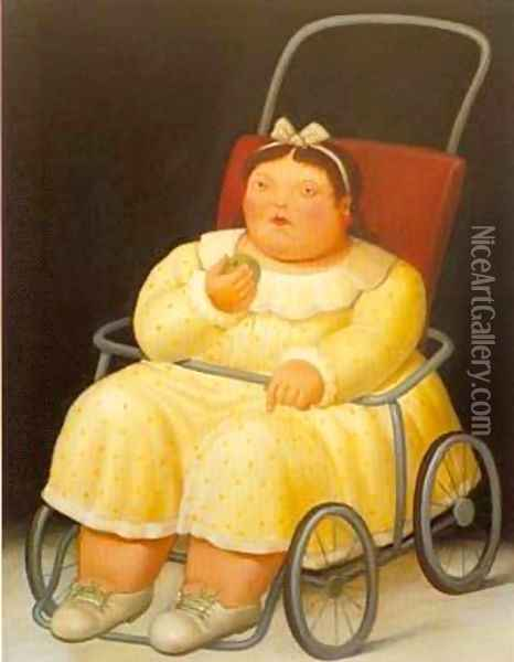 Girl 1996 Oil Painting - Fernando Botero