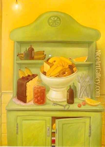 The Buffet 1993 Oil Painting - Fernando Botero
