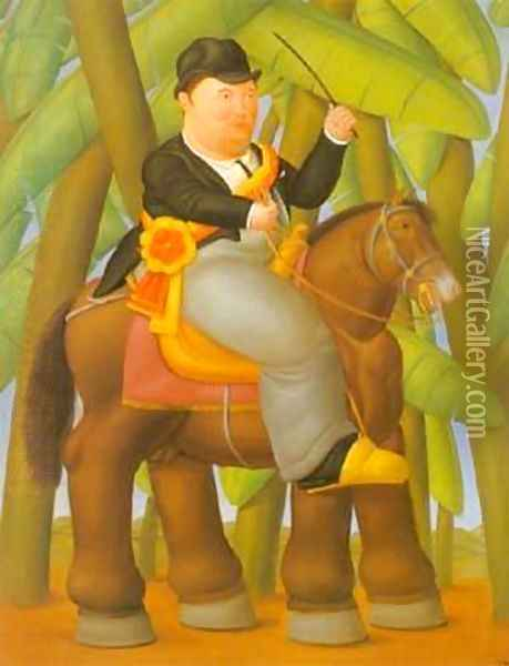 President and First Lady 1989. Oil Painting - Fernando Botero