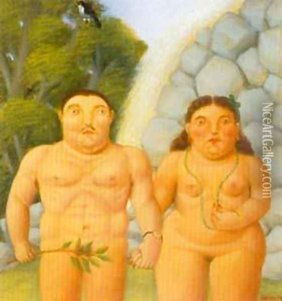 The Couple 1994 Oil Painting - Fernando Botero