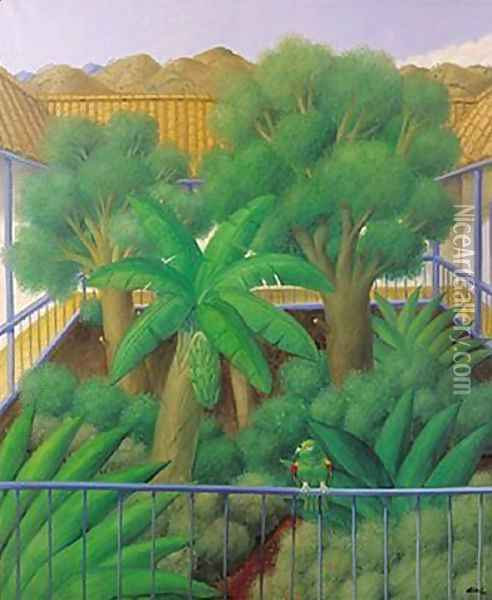 Untitled Oil Painting - Fernando Botero