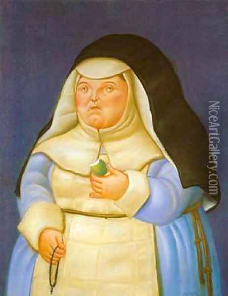 Mother Superior 1994 Oil Painting - Fernando Botero