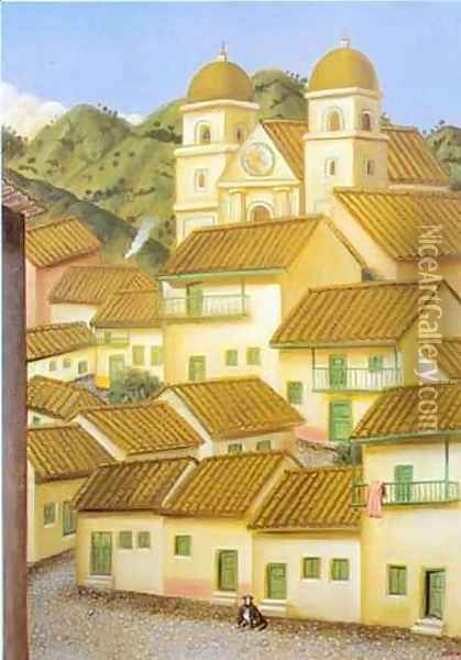 The Town 1995 Oil Painting - Fernando Botero