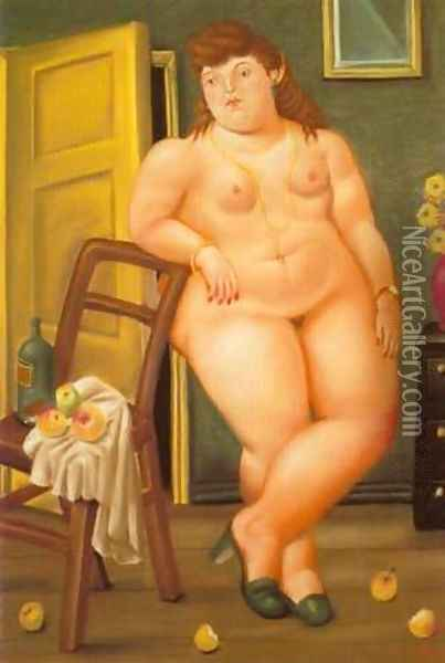 Still Life With Oranges 1993 Oil Painting - Fernando Botero