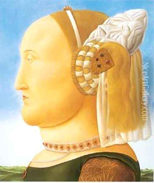 After Piero Della Francesca 1998- Oil Painting - Fernando Botero