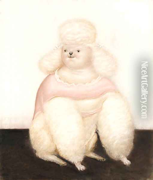 French Poodle Oil Painting - Fernando Botero