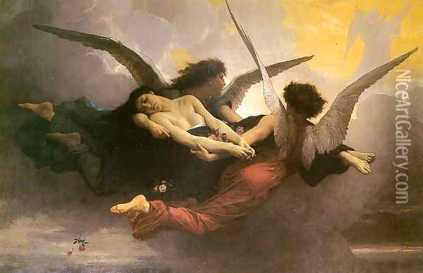 A Soul Brought to Heaven 1878 Oil Painting - William-Adolphe Bouguereau