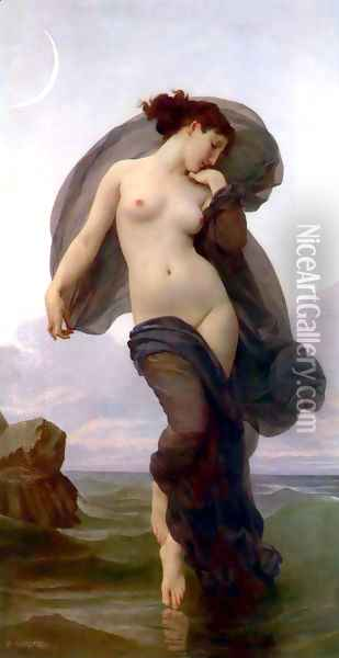 Le crepuscule (Twilight) (or Evening Mood) Oil Painting - William-Adolphe Bouguereau