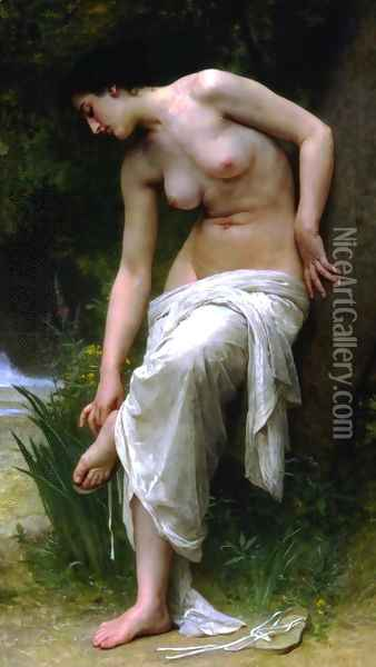 After the Bath (1894) Oil Painting - William-Adolphe Bouguereau