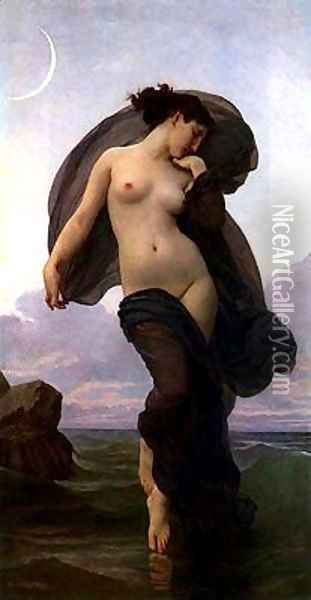 Evening Mood Oil Painting - William-Adolphe Bouguereau