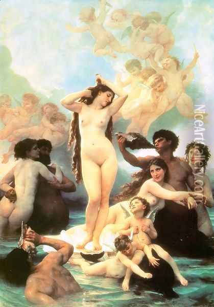 The Birth of Venus 1879 Oil Painting - William-Adolphe Bouguereau