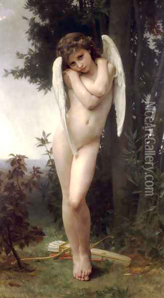 L'Amour Mouille (Wet Cupid) Oil Painting - William-Adolphe Bouguereau
