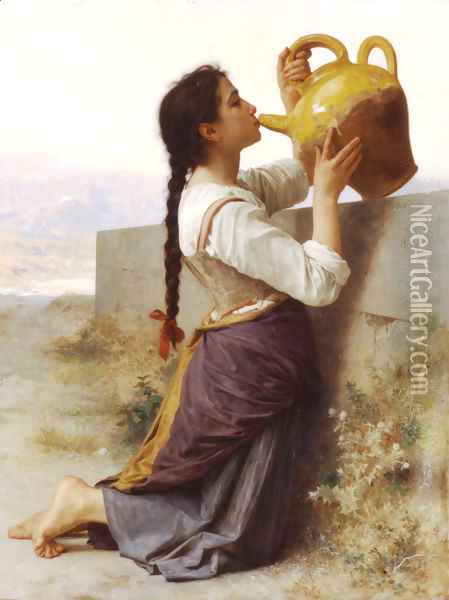 La Soif (Thirst) Oil Painting - William-Adolphe Bouguereau