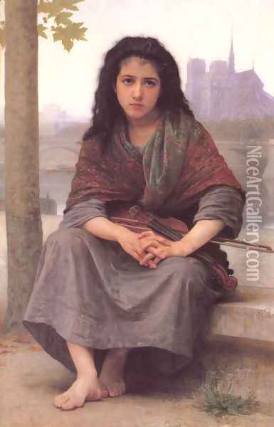 The Bohemian 1890 Oil Painting - William-Adolphe Bouguereau