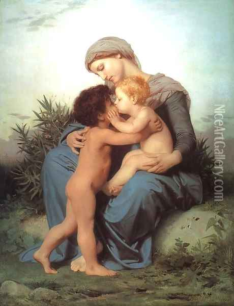 Fraternal Love 1851 Oil Painting - William-Adolphe Bouguereau