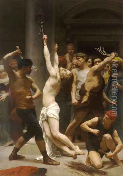 The Flagellation Of Christ Oil Painting - William-Adolphe Bouguereau
