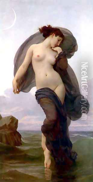 La Crepuscule Oil Painting - William-Adolphe Bouguereau