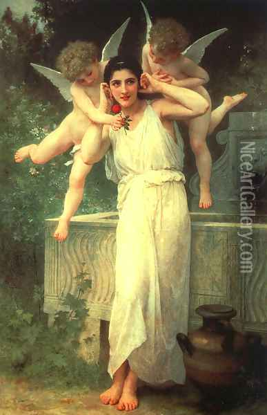 Innocence 1890 Oil Painting - William-Adolphe Bouguereau