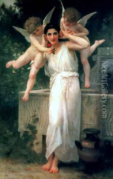 Jeunesse (Youth) Oil Painting - William-Adolphe Bouguereau