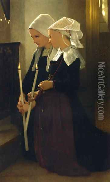 Prayer at Sainte-Anne-d'Auray Oil Painting - William-Adolphe Bouguereau