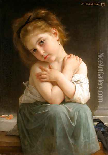 La frileuse (Chilly girl) Oil Painting - William-Adolphe Bouguereau