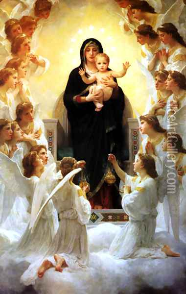 The Virgin With Angels Oil Painting - William-Adolphe Bouguereau