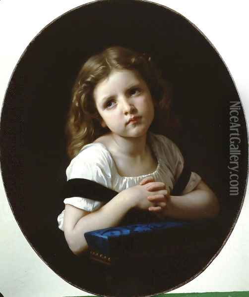 La Priere (The Prayer) Oil Painting - William-Adolphe Bouguereau