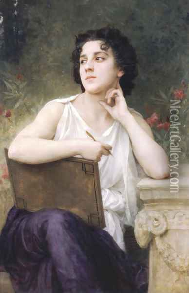Inspiration Oil Painting - William-Adolphe Bouguereau