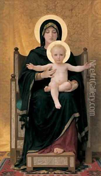 Virgin and Child, 1888 Oil Painting - William-Adolphe Bouguereau