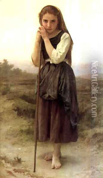 The Little Shepherdess Oil Painting - William-Adolphe Bouguereau