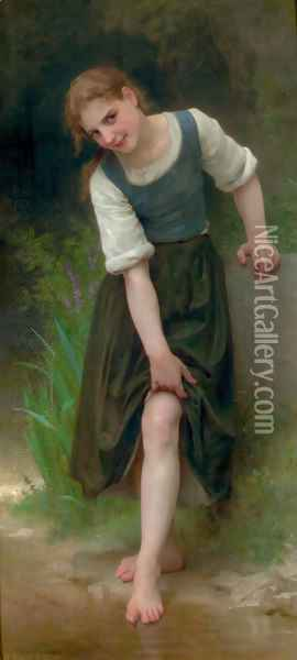 Le Gué (The Ford) Oil Painting - William-Adolphe Bouguereau