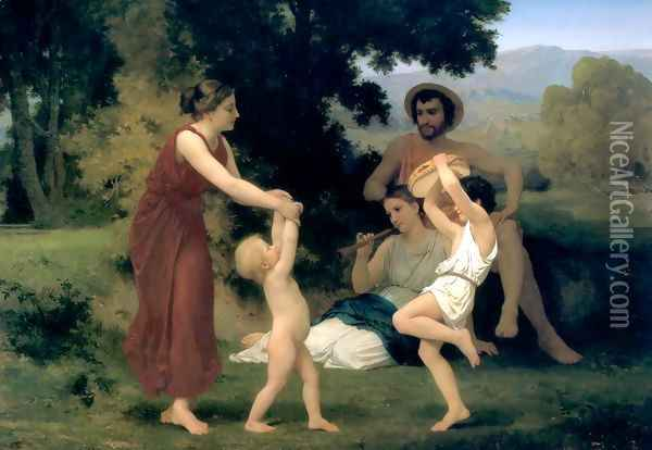 Pastorale (Pastoral) Oil Painting - William-Adolphe Bouguereau