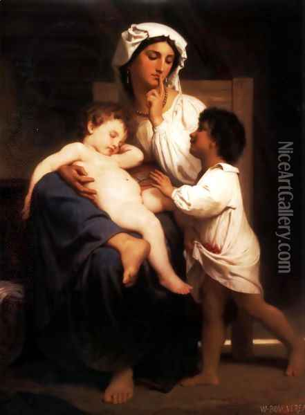Le sommeil (Asleep at last) Oil Painting - William-Adolphe Bouguereau