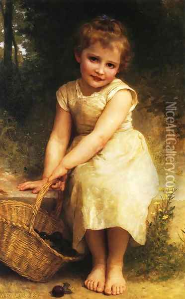 Plums Oil Painting - William-Adolphe Bouguereau