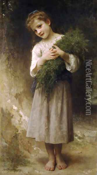 Retour des champs (Returned from the fields) Oil Painting - William-Adolphe Bouguereau