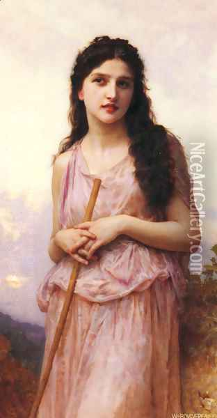 L'attente (Waiting) Oil Painting - William-Adolphe Bouguereau