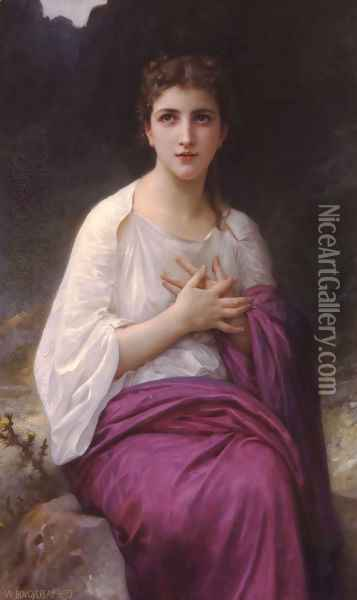 Psyché (Psyche) Oil Painting - William-Adolphe Bouguereau