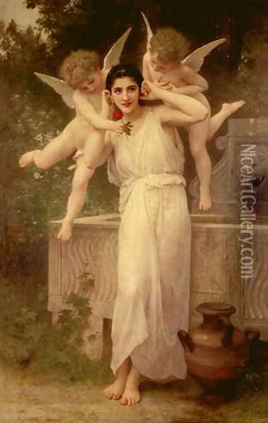 Youth Oil Painting - William-Adolphe Bouguereau