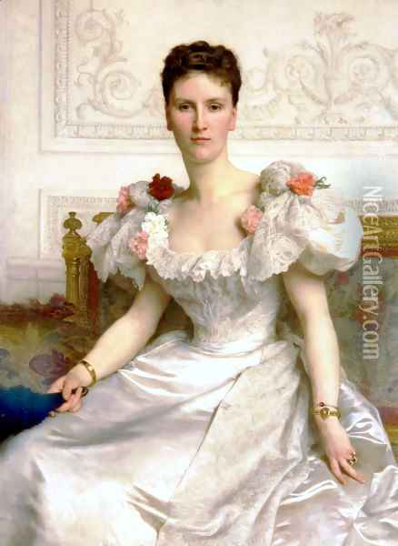 Madam the Countess of Cambaceres Oil Painting - William-Adolphe Bouguereau