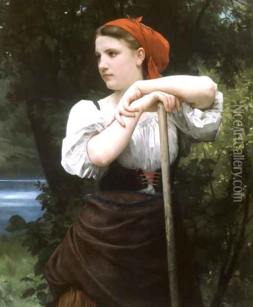 Faneuse [The Haymaker] Oil Painting - William-Adolphe Bouguereau