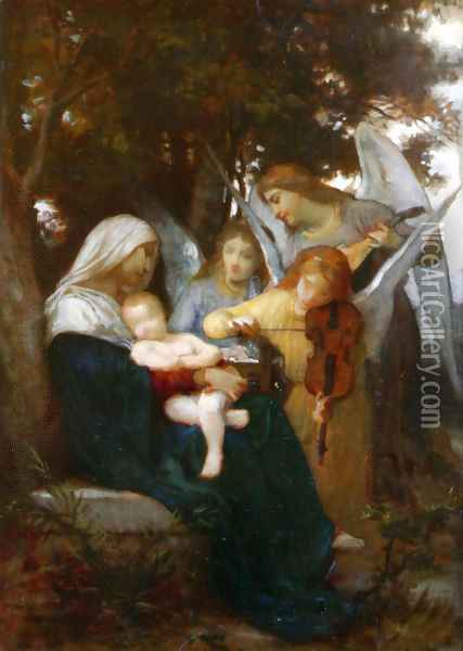 Study for Vierge aux anges (Study for Virgin with Angels) Oil Painting - William-Adolphe Bouguereau